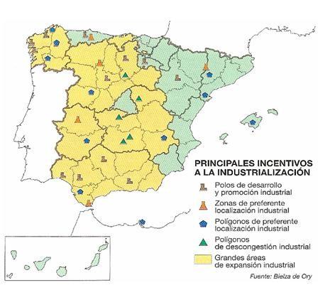 Invesiones industriales del INI. Los Polos de Desarrollo Económico y Social.