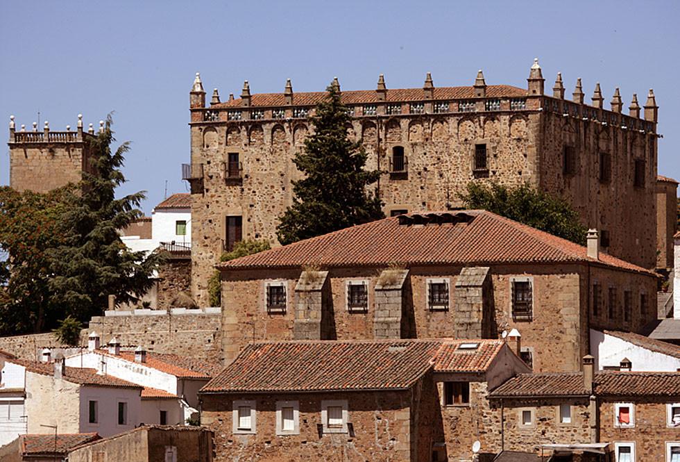 Palacios del casco histórico de Cáceres.