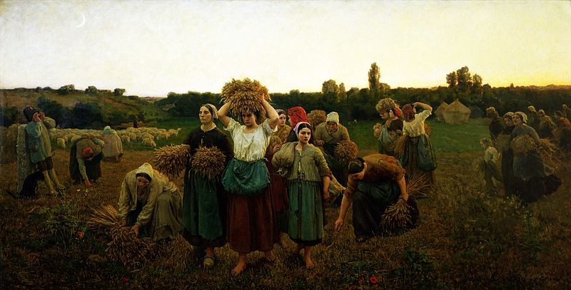 La retirada de las espigadoras de Breton