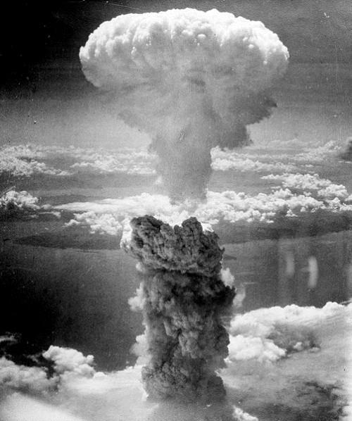 La bomba núclear en Nagasaki.