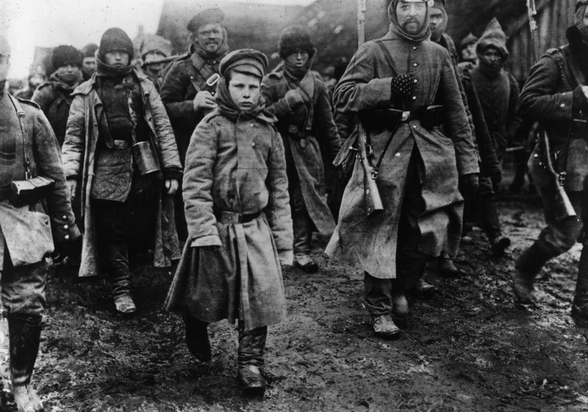 1915. Prisioneros rusos.