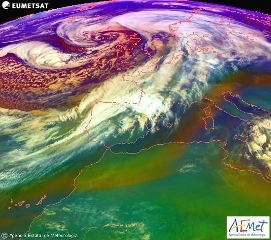 Mapa de masas de aire a 24 de diciembre de 2013.