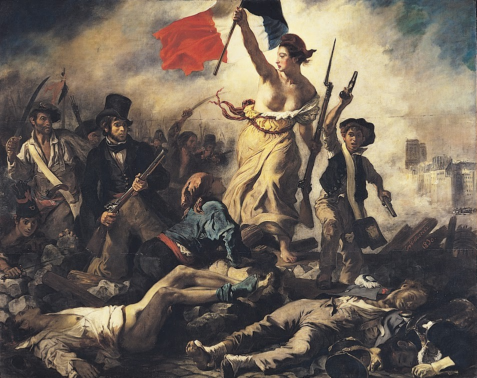 La libertad guiando al pueblo, 1830 de Delacroix. Romanticismo.