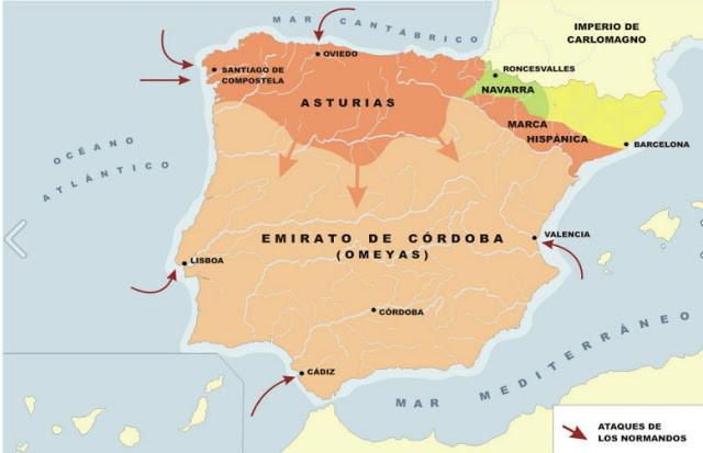 Reinos Cristianos s. IX -X / Emirato de Córdoba S. IX-X