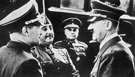 Franco con HItler en Hendaya.(23 de octubre de 1940).