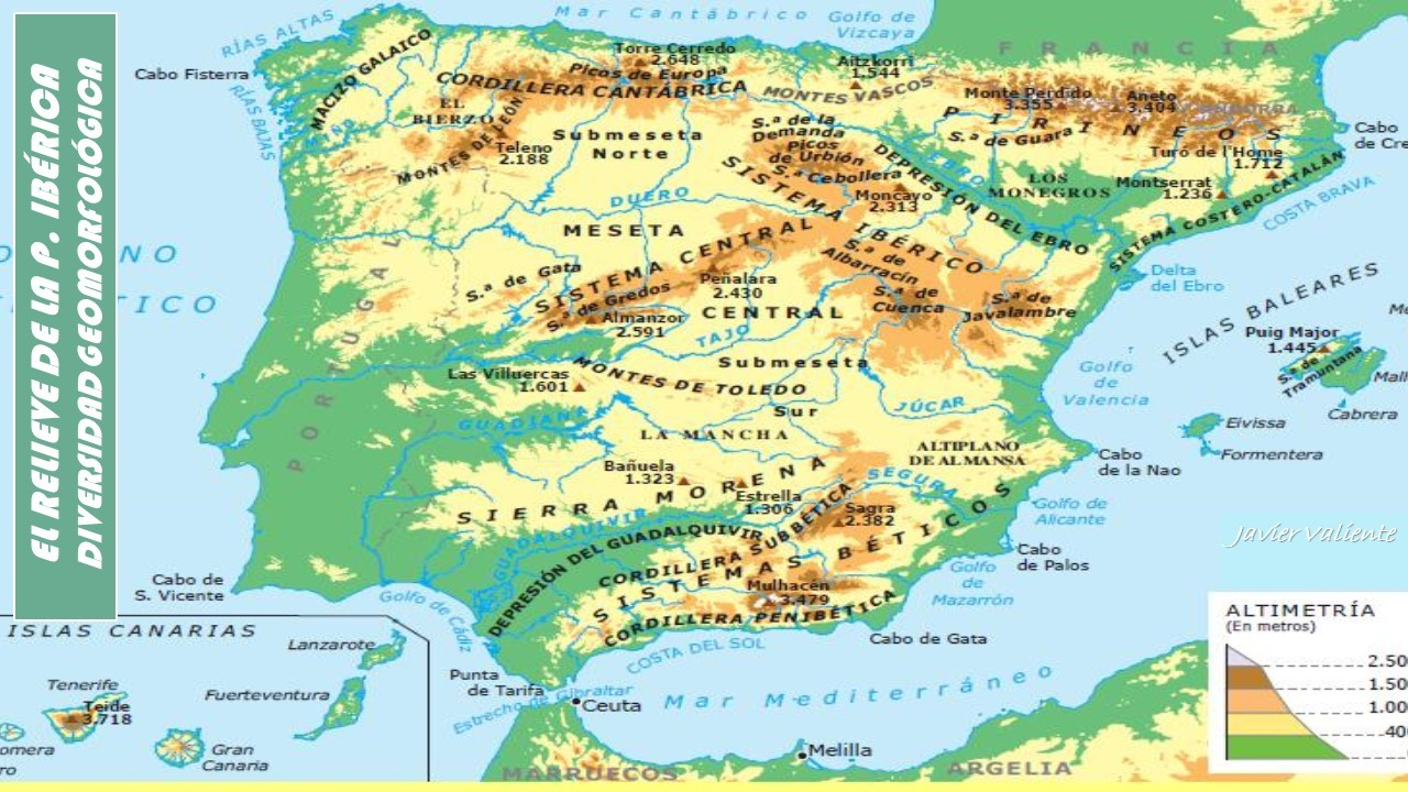 Mapa Relieve De España Para Niños.Mapas De Espana Para Descargar E Imprimir Completamente