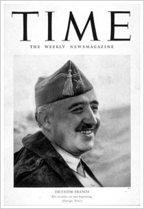 Franco en la revista Time en 1939.