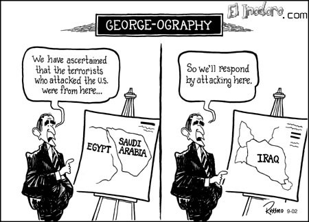 "Geografía ""for dummies"" George W.Bush."