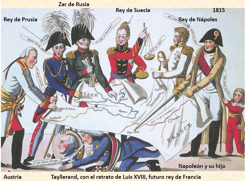 Caricatura del Congreso de Viena.