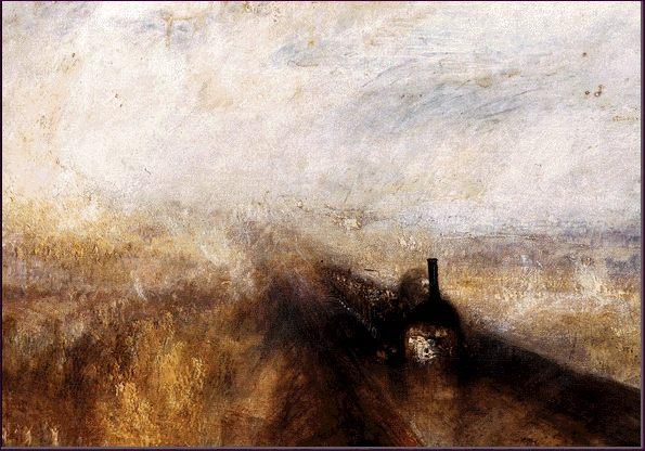William Turner. Lluvia, vapor y velocidad. Detalle