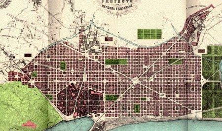 Plano de Barcelona.