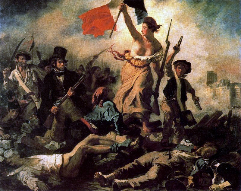 La libertad guiando al pueblo de Delacroix.