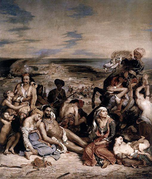 La matanza de Quíos, Géricault.1824
