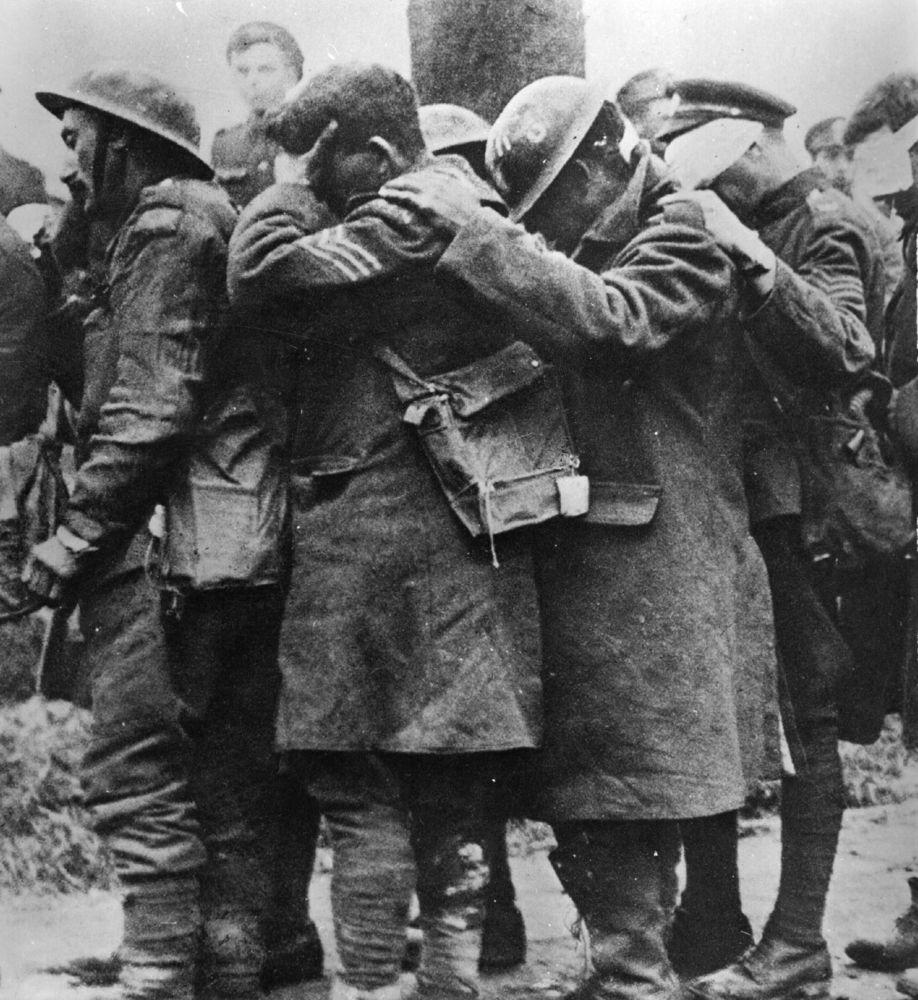 Soldados británicos heridos por gas mostaza