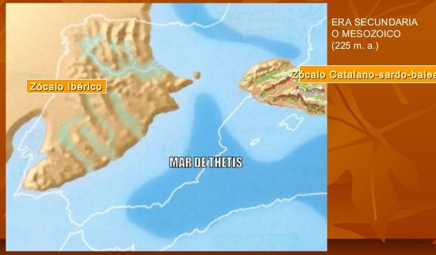 ERA SECUNDARIA O MESOZOICA (Hace unos 225 millones de años).