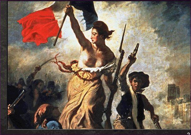 La libertad guiando al pueblo de Delacroix,detalle.