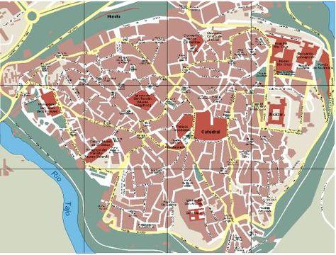 Plano urbano de Toledo.
