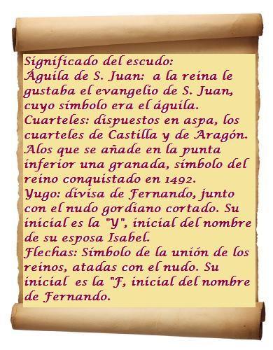 Simbología del escudo real de los RR.CC.