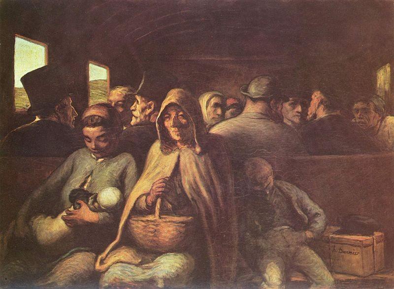 El vagón de tercera de Daumier