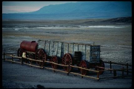 El viejo tren minero en el Death Valley.
