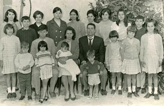 Premios Nacionales de la Natalidad en el año 1969, la familia Ojeda Artiles.