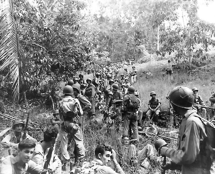 Tropas americanas en la batalla de Guadalcanal