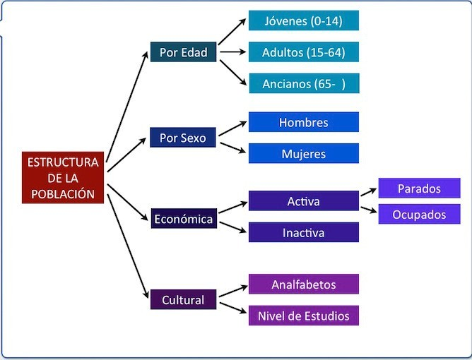 ESTRUCTURA DE LA POBLACIÓN. (sexo, edades, actividades económicas).