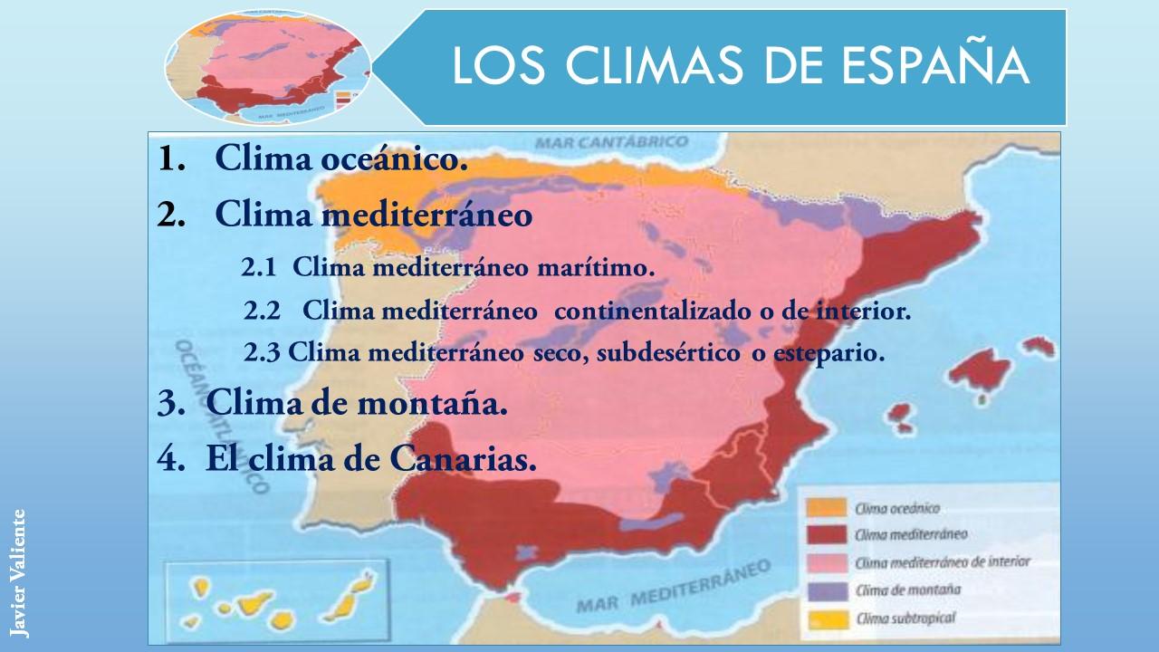 Resultado de imagen de los climas de españa