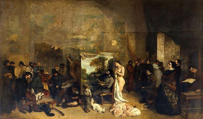 El taller del artista de Courbet.