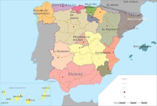 Posible mapa de España.