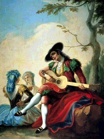 El majo de la guitarra de F.Bayeu.