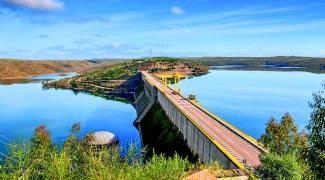 Embalse de La Serena sobre el río Zújar.