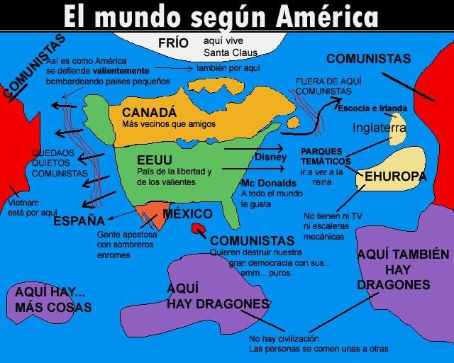 Más visiones del mundo desde USA.