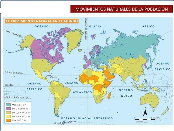 EL CRECIMIENTO NATURAL EN EL MUNDO.