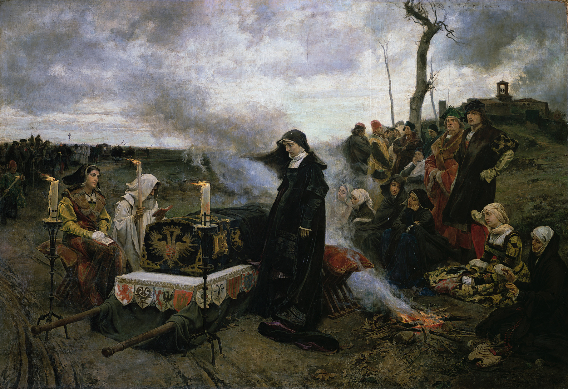 Juana la Loca de Francisco Pradilla, (1877, Museo del Prado).