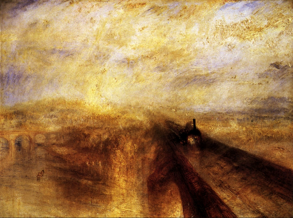 William Turner. Lluvia, vapor y velocidad.