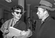 Ava Gadner y Frank Sinatra en el bar Chicote de la Gran Vía madrileña.