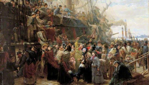 Barco de emigrantes de Staniland