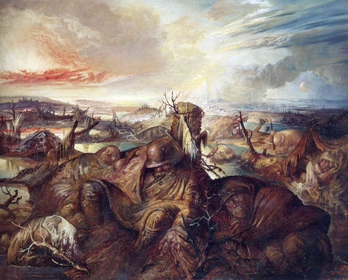 Flandes de Otto Dix, de estilo expresionista.