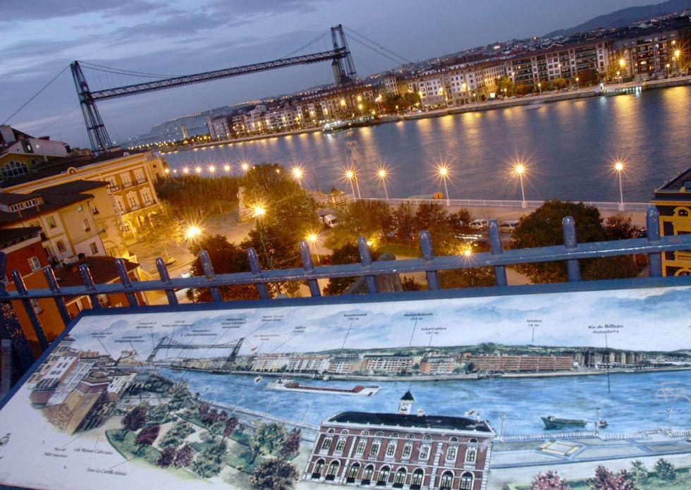 Puente colgante de Vizcaya, Portugalete.