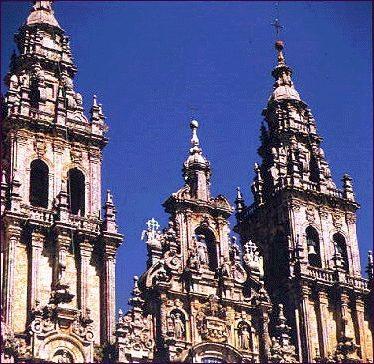 FACHADA DEL OBRADOIRO. Santiago de Compostela. Casas Novoa.