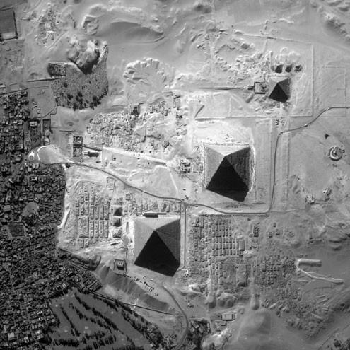 Vista aérea de las pirámides (alta resolución)