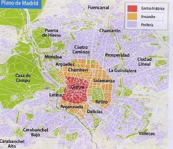 Plano de Madrid.