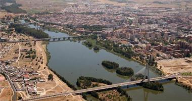 El Guadiana a su paso por Badajoz.