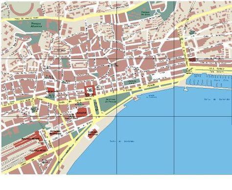 Plano urbano de Santander