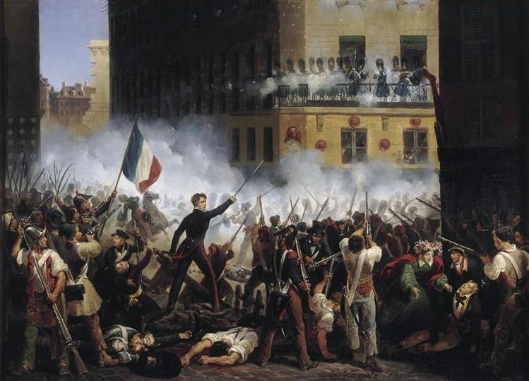 La revolución de 1830 en París.