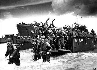 El desembarco de Normandía en Omaha (6 de Junio de 1944).