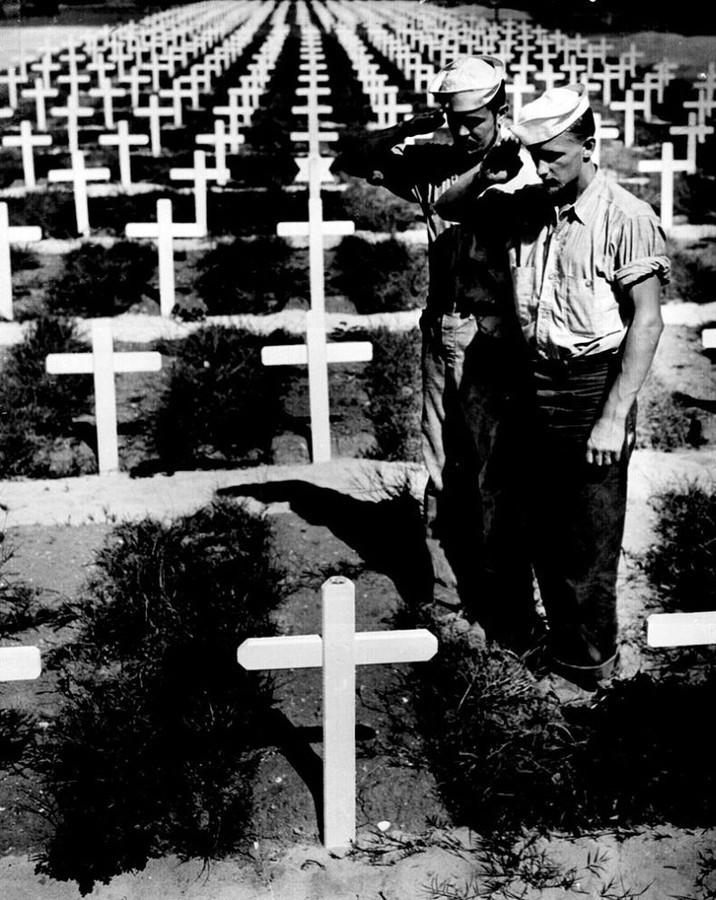 Cementerio yanqui en la costa de Normandía