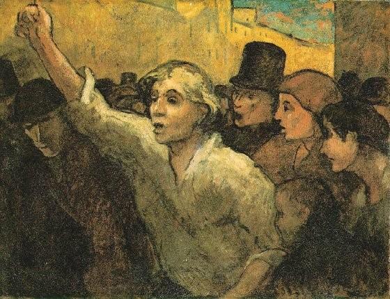 El levantamiento de Daumier.