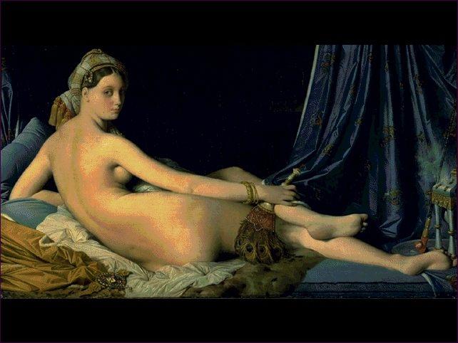 La gran odalisca de Ingres.
